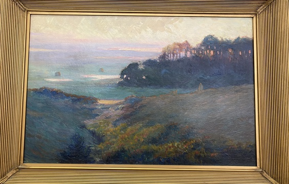 Work of the Week: Arthur Wesley Dow, Bayberry Hill, Sunset, 1907