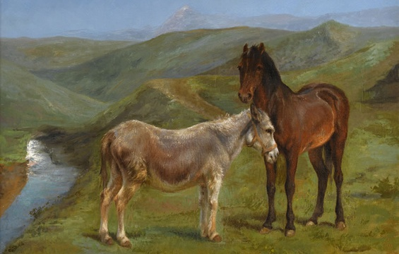 Work of the Week: Rosa Bonheur, A Pony and a Donkey, c. 1880