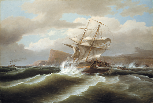 Full view of An American Ship in Distress