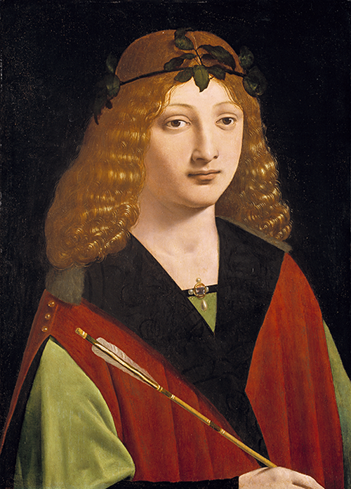 Full view of Portrait of a Youth Holding an Arrow