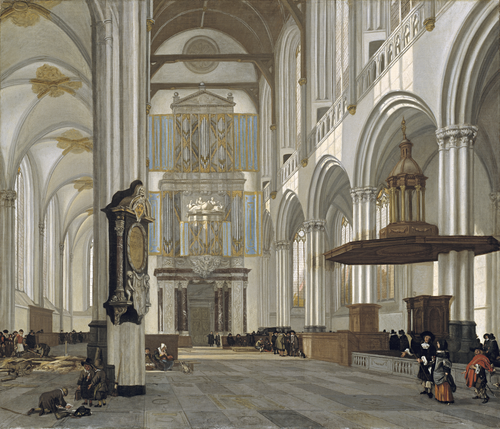 Full view of Interior of the Nieuwe Kerk, Amsterdam