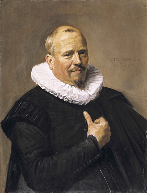 Full view of Portrait of a Man