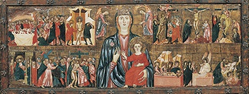 Thumbnail of 'Madonna and Child and Two Angels, with Twelve Scenes from the Passion'