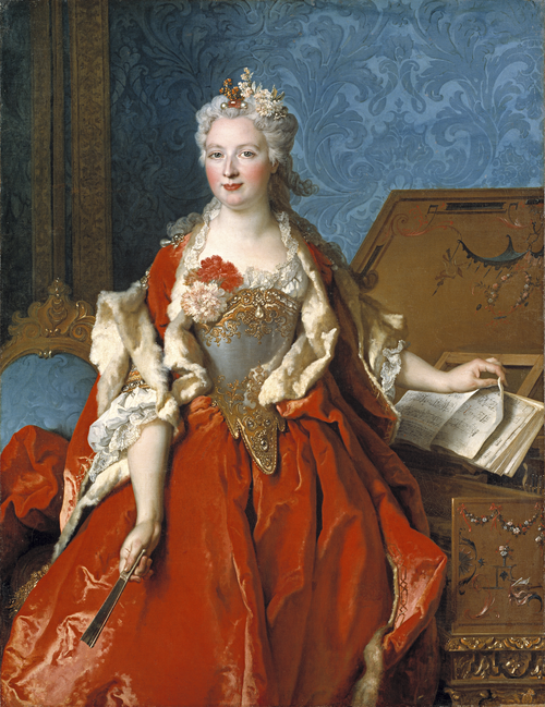 Full view of Portrait of Marguerite de Sève, Wife of Barthélemy-Jean-Claude Pupil