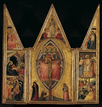Thumbnail of 'The Trinity and the Crucifixion, with Scenes from the Life of Christ'