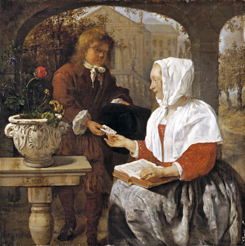 Full view of A Lady Receiving a Letter