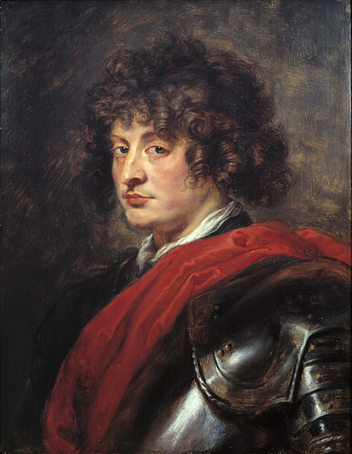 Full view of Portrait of a Young Man in Armor