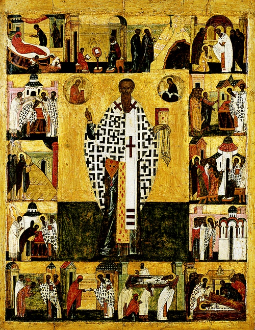Full view of St. Basil with Scenes from His Life