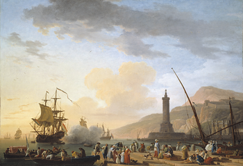 Thumbnail of 'A Seaport at Sunset'