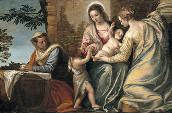 Thumbnail of 'Madonna and Child with Saint Elizabeth, the Infant Saint John the Baptist, and Saint Catherine'