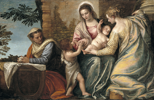 Full view of Madonna and Child with Saint Elizabeth, the Infant Saint John the Baptist, and Saint Catherine