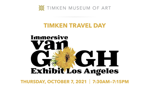 Image for TIMKEN TRAVEL DAY  Immersive Van Gogh Exhibit Los Angeles